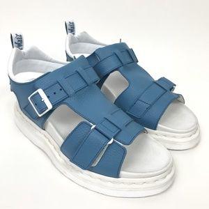Dr. Marten's Kamilah Blue White Platform Sandals